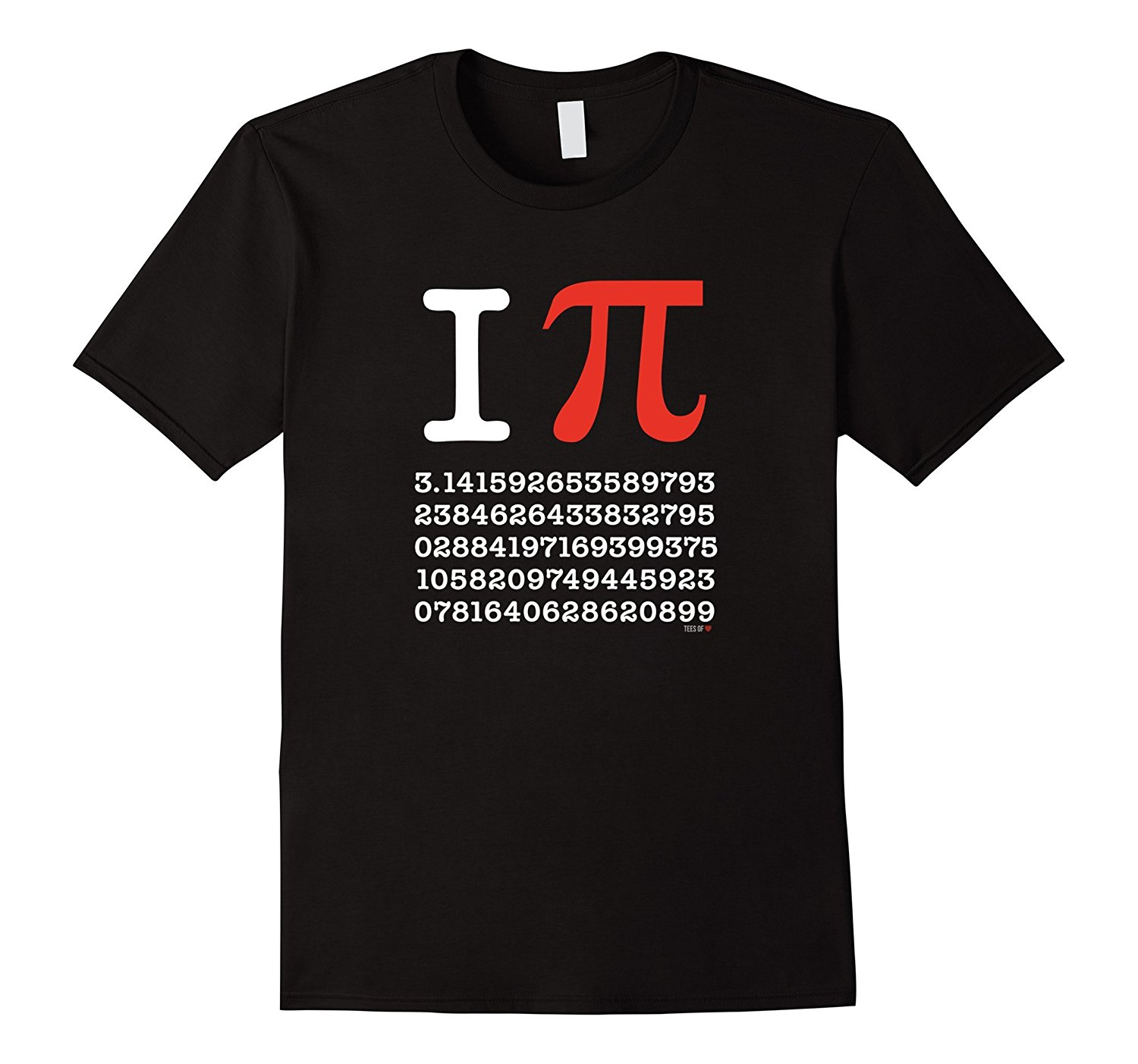 T Shirt Sale O Neck Short Sleeve I Love Pi T Shirt White Pythagoras Theory Symbol Tee Shirt 100% Cotton Tee For Men