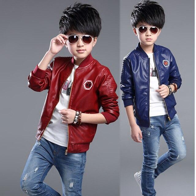 c21e6361b764 2018 New Spring Jaquetas Baby Boys Jacket Leather Cloth Kids Girl ...