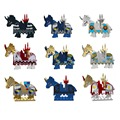 1set Battle Steed Rome Warrior Lion Cavalryman Castle Dragon Knights horse Building Block Knight Brick figure
