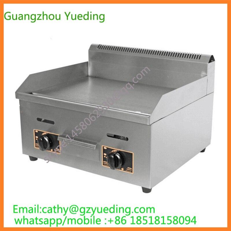 Elettrodomestici da cucina Piano di Lavoro Commerciale In Acciaio Inox Liscio Piastra A Gas