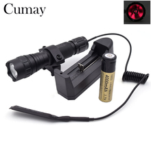 Waterproof 1 mode 850nm IR LED Flashlight Torch For Hunting Linternas Light (need Night vision) +Battery +Remote Pressure Switch
