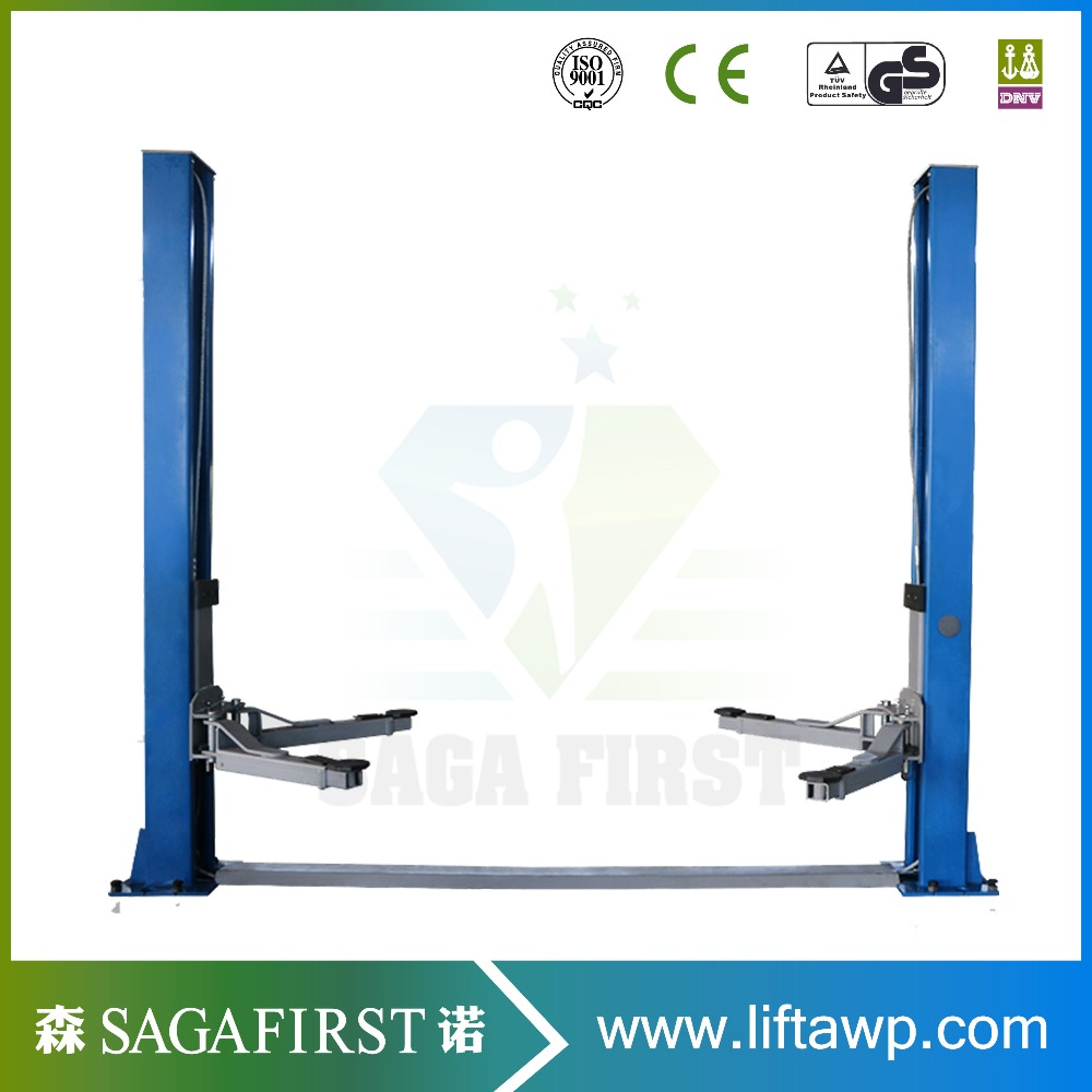 Hydraulic Clear Floor Vehicle Lift Two Post Car Lift