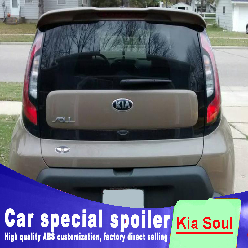 2010 2011 2012 2013 2014 2015 For kia soul spoiler window roof wing spoilers high quality ABS material by primer or DIY paint 2005 2006 2007 2008 2009 2010 for hyundai sonata rear trunk roof wing spoiler abs material high quality by primer or diy paint