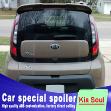 цена на 2010 2011 2012 2013 2014 2015 For kia soul spoiler window roof wing spoilers high quality ABS material by primer or DIY paint