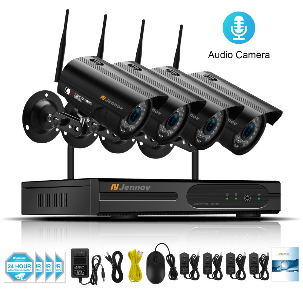 1080P 2MP IP Camera Audio Record Wireless Home Security CCTV System With NVR wifi Video Surveillance Kits Set wi-fi IR HD View