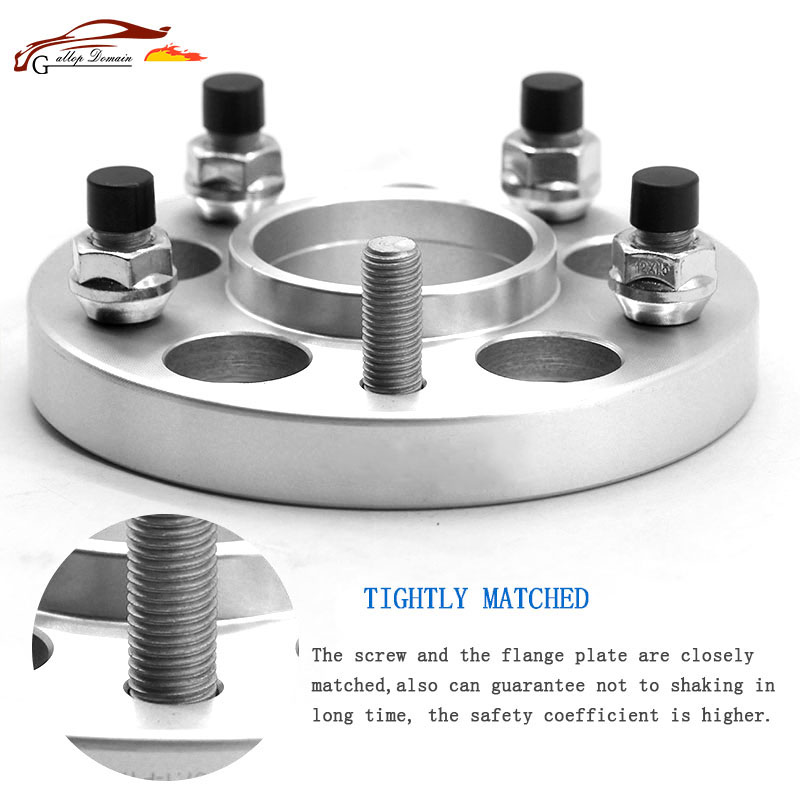 Gallop Domain 2PCS 30MM Alloy Aluminum T-T6061 CNC Forge wheel adapters spacers 5-127 71.6 M1/2 suit for car DODGE JCUV