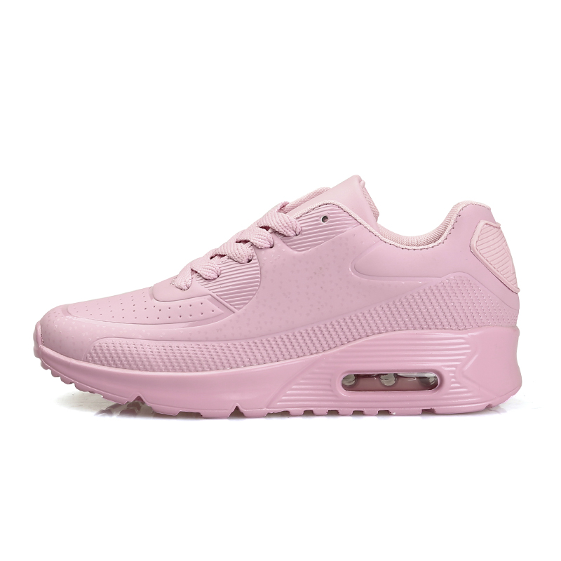 KUYUPP Women Causal Shoes Sport Breathable Trainers Size 35-40 Pink Flat With Ladies Shoes Lace Up Outdoor Walking Shoes YD80 (7)