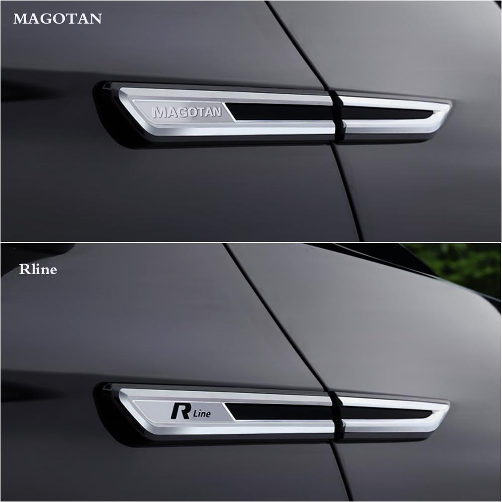 Hot sale 2pcs car sticker chrome modified car body standard fender decoration for V W Volks wagen Passat B8 2017 2018 2019