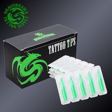 50 Pcs Mix Sizes Disposable Tattoo Tips Sterile Assorted Green Plastic Nozzles Tube Tattoo Supply Set