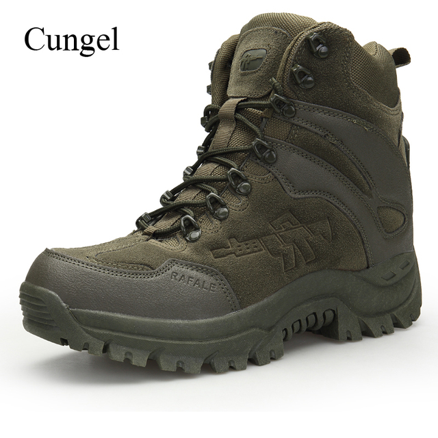 Cungel Tactical Military Combat Boots Men High quality US Army Hunting Trekking Camping Mountaineering Winter Work Shoes Boots