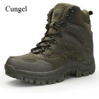 Cungel tático militar botas de combate dos homens alta qualidade do exército dos eua caça trekking acampamento montanhismo trabalho botas tornozelo