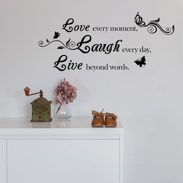 Us 4 13 10 Off Live Love Laugh Quote Vinyl Wall Decal Erfly Sticker Home Decor In Stickers From Garden On Aliexpress Alibaba