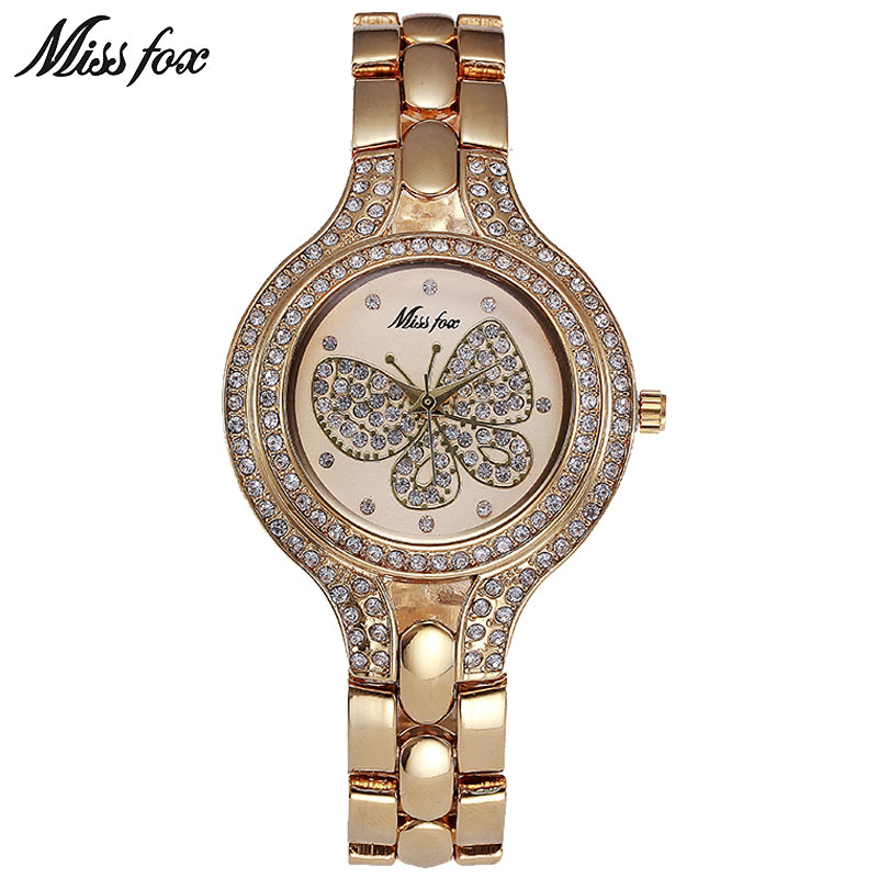 MISSFOX Miss Fox Casual Women Watches 2018 Silver Luxury Women Watch - Relojes para mujeres