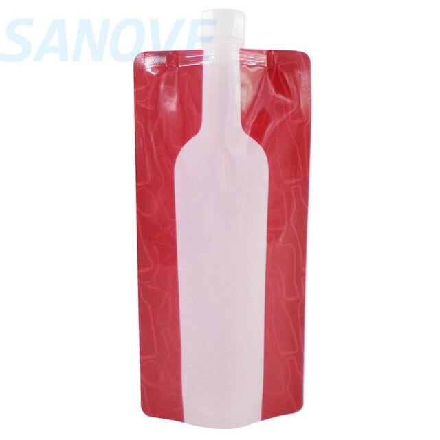 750ml Plastic Reusable Wine Bottle Portable Liquor Beer Bag Unbreakable Flask Travel Accessories 10pcs