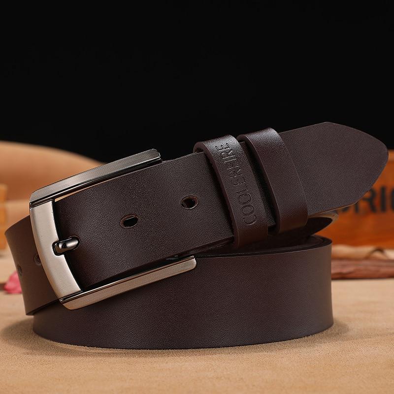 men high quality genuine leather belt luxury designer belts men cowskin fashion Strap male Jeans for man cowboy free shipping 3