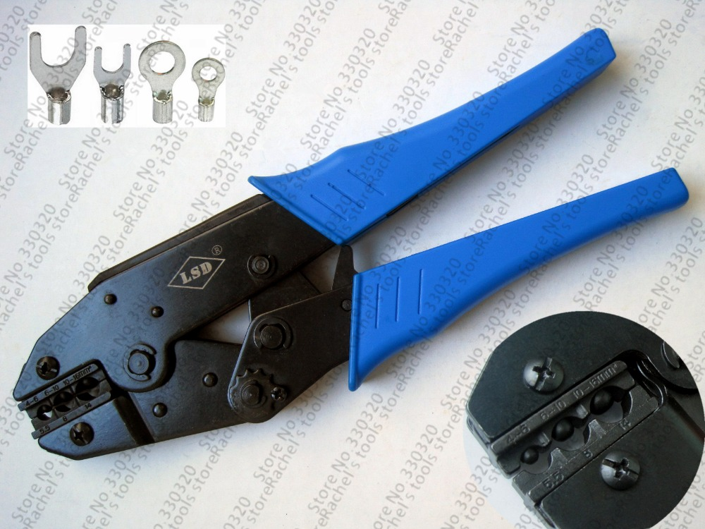 ls 616td non insulated terminal hand crimper tool for cable lugs range 4 16mm2 ratchet crimping. Black Bedroom Furniture Sets. Home Design Ideas