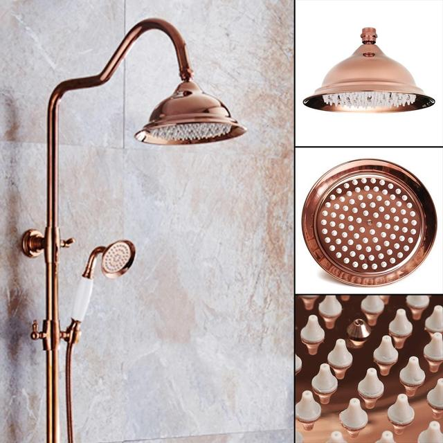 New 8 inch Antique Vintage Red Copper Rose Gold Round Bathroom ...
