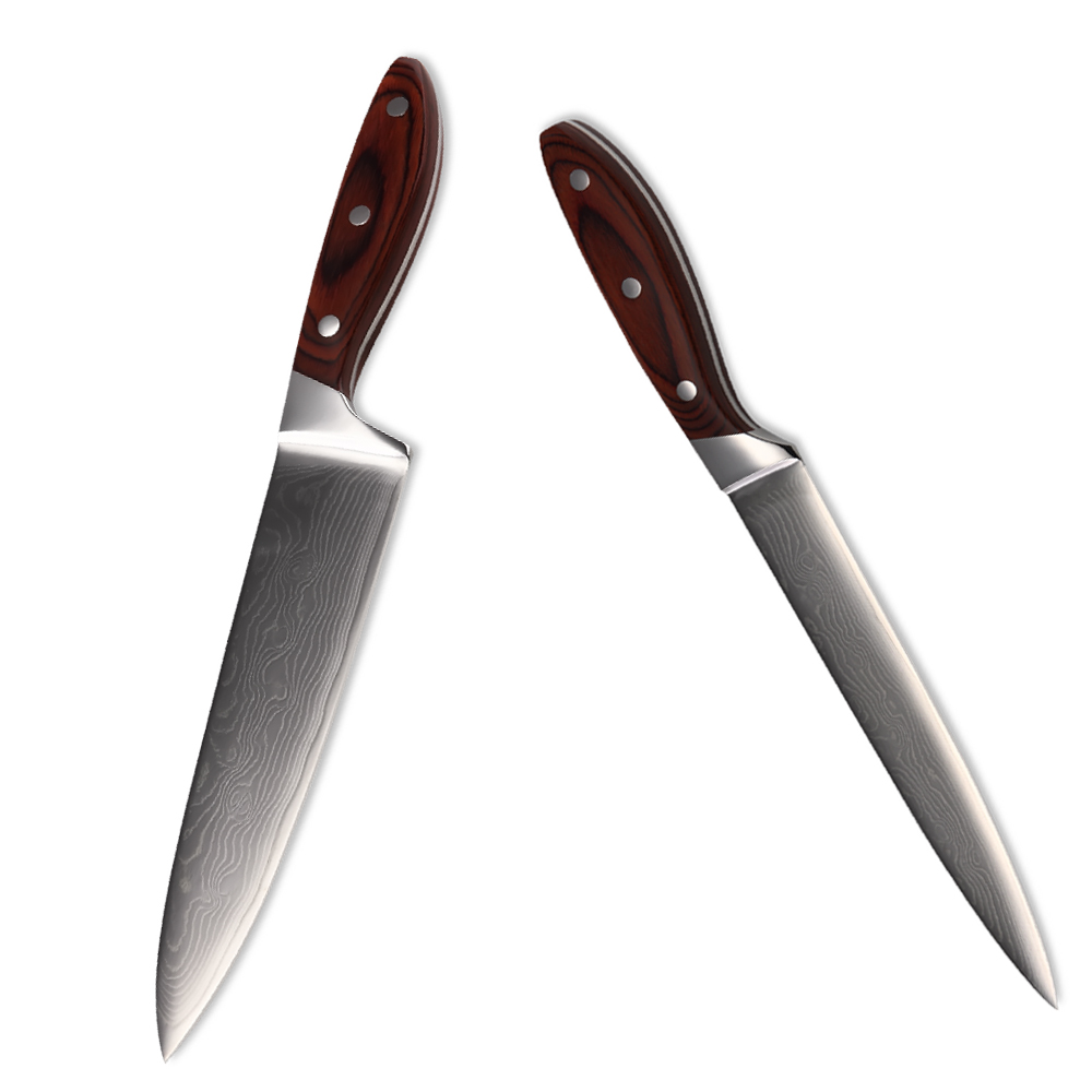 Good Quality Kitchen Knives: New Japanese Style VG10 Damascus Steel Kitchen Knives Set