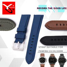 22mm 24mm 26mm High Quality Woven Nylon Leather Watch Strap Fashion Sport Strap Pin Buckle For Watch Bracelets for men все цены