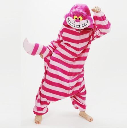 free pp New Arrival Winter Unisex Animal Onesie Pajamas Cosplay Costume Animal Pajamas Adult Sleepwear Cheshire Cat Onesie