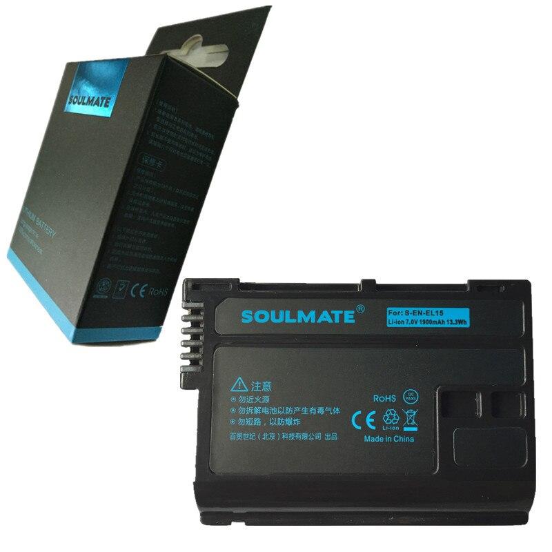 ÂME SOEUR EN-EL15 batteries au lithium pack EL15 Appareil Photo Numérique Batterie EL15 Pour Nikon D7000 D7100 D800 D800E D600 D610 D810 D500
