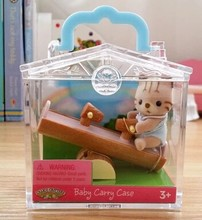 Симпатичные Sylvanian Families с Качели Фигурки Животных Украшения классические игрушки brinquedo подарок на день рождения рождественский подарок