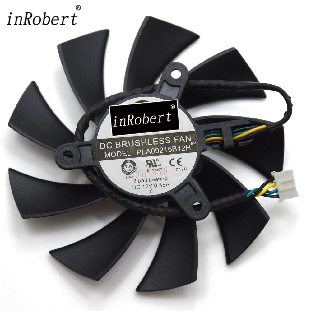 Power Logic PLA09215B12H DC 12V 0 55A 4 Wire 4Pin Cooler Fan For MSI N560 570