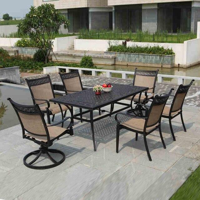 5 Piece Cast Aluminum Patio Furniture Outdoor Furniture Transport By