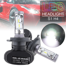 цена на 2pcs/lot  H1/H4/H7/H8/H9/H10/H11/9005/9006 S1 50W 8000LM 6000K CSP LED Car Headlight Kit Automobile Fog Lamp Hi/ Lo Light Bulbs