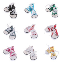 Colorful Doll Lace Up Canvas Sneakers Shoes For 18'' doll My Lift Our Generation Doll Dress Up Clothing Outgoing Acces(China)