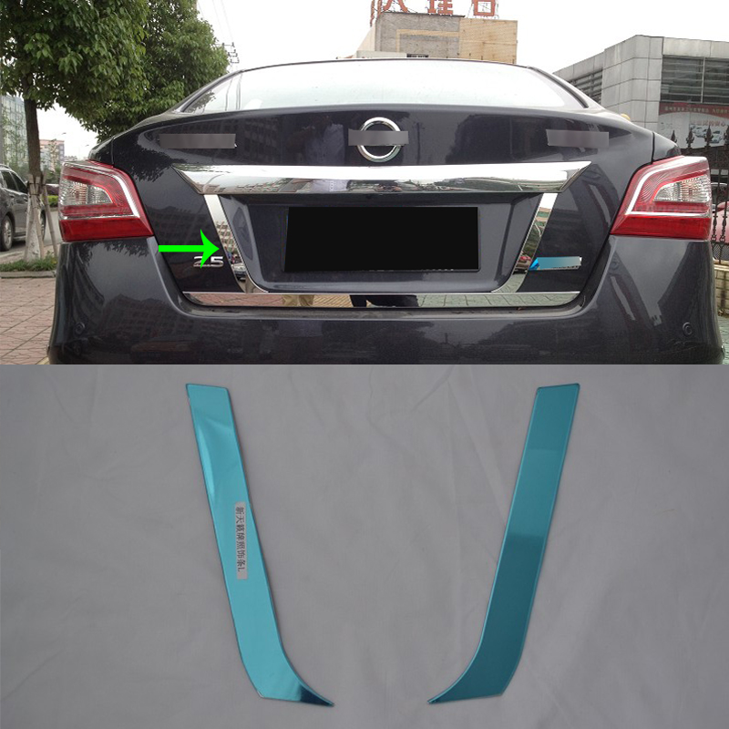 Plastic Rear Trunk Hinged Protective Trim Kit For Nissan Teana Altima 2013-2018