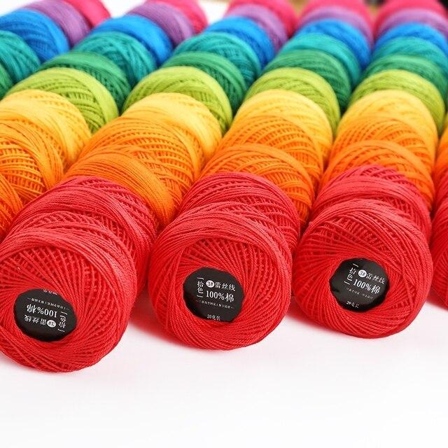 Wholesale 20g No 3 Wool Silk Thick Crochet Yarn Lace Wayuu Bag Hand