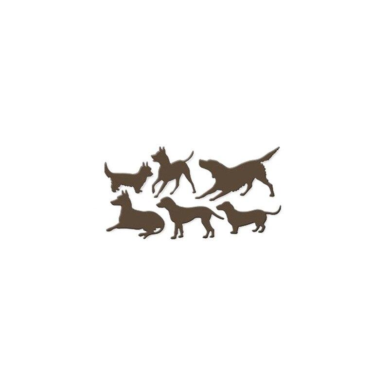 Eastshape Dog Dies Set Metal Cutting Dies Pet Scrapbooking for Card DIY Album Embossing Paper Craft Dies Stencil New 2019 in Cutting Dies from Home Garden