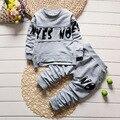 2017 Primavera Do Bebê Das Meninas do Menino Roupas de Manga Longa Top + calças 2 pcs Terno Esporte Roupa Do Bebê Set Bebê Recém-nascido Roupas Bebe