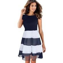ac3ac07a3f282 Popular Chiffon Dress Striped Blue&white-Buy Cheap Chiffon Dress ...