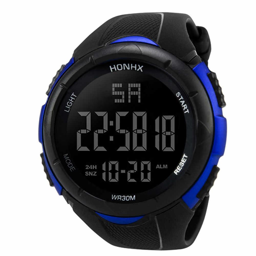 2019 Mens Impermeabile Orologi di Nuovo Modo Casual LED Digital Vigilanza di Sport All'aria Aperta Degli Uomini Multifunzione Studente orologi Da Polso