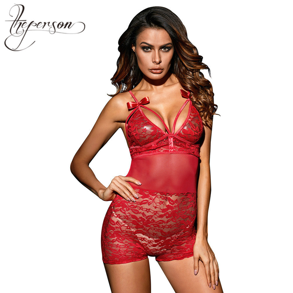 Lover Section New Camisole Back Row Buckle Lace Sexy Sexy Bodysuit