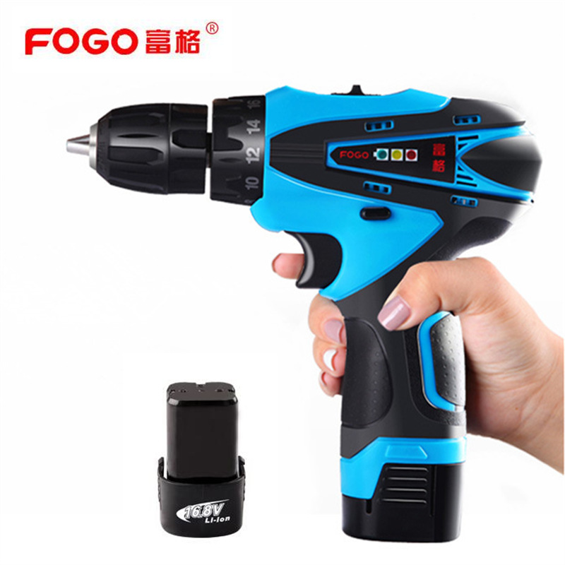 FOGO 16 8V Cordless hand electric drill Percussion Manual electric screwdriver Socket wrench screw driver Auto
