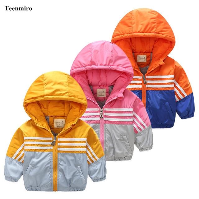 21da11867 Thick Children windbreaker Toddler Boys Girls Jacket Coat Clothes ...