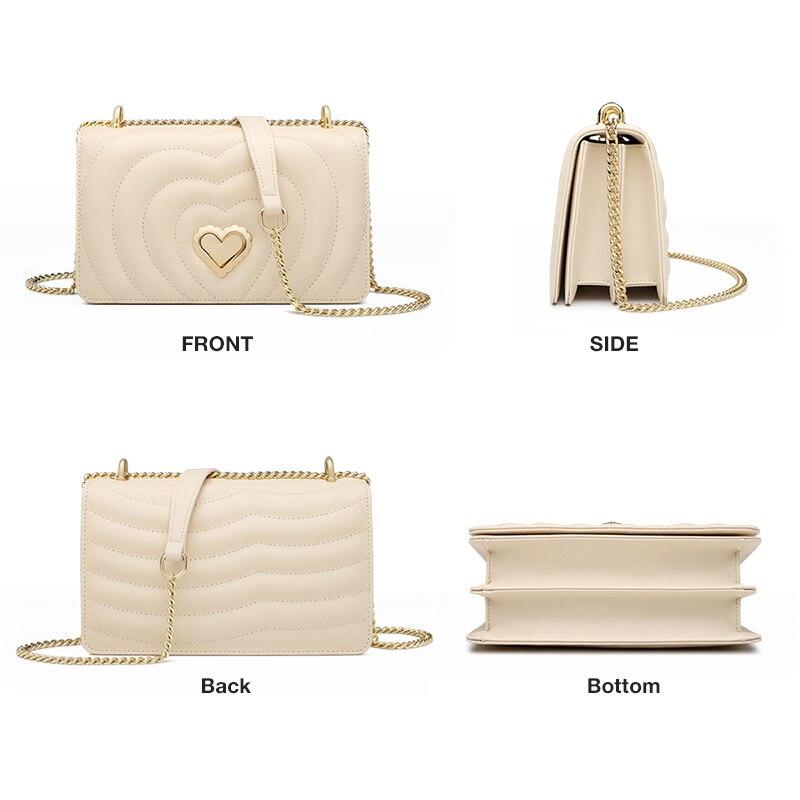 FOXER Brand Chic Female Valentine's Day present Skin Messenger Bags Elegant Lady Love Flap Bag INS Fashion Women Crossbody Bag 1