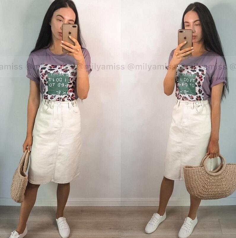 19 Women High Waist White Denim Skirt Split Jeans Skirt For Women Summer Pencil White Denim Skirts 3