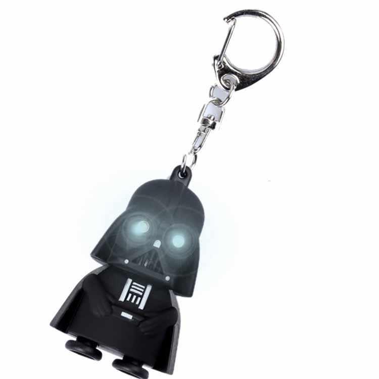 Alta Qualidade TOP 2018 Star Wars Darth Vader Chaveiro Luz Negra Pingente de LED KeyChain Para O Presente Do Homem