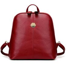 Leather shoulder Bag 2019 new women's newly backpack Travel Bag School Backpack Zipper Casual Travel Bags #YL5