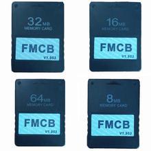 FMCB McBoot карта v1.953 карта памяти для sony PS2 Playstation 2 8 Мб 16 Мб 32 Мб 64 Мб карта памяти OPL MC Boot