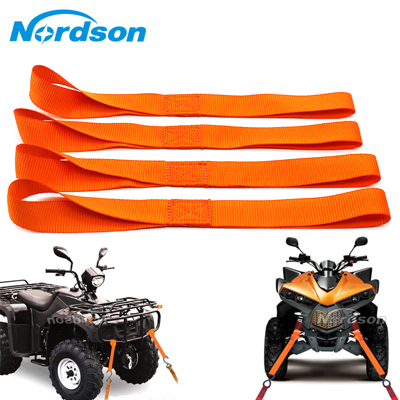 12/'/' Motorcycle Tie Down Straps Towing Ropes for ATV UTV Motorbike Dirt Bike