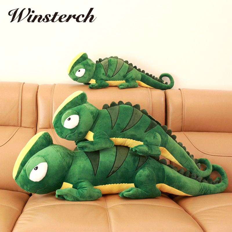 2017 New 80cm Plush Toys Soft Stuffed Peluche Animals Toys  Doll Birthday Christmas Gifts Cartoon Model Lizard PP Cotton WW03