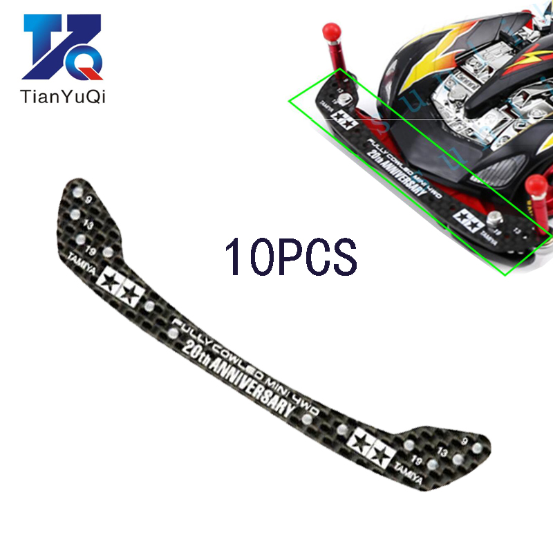 10Pcs 95072+94954 1.5mm HG Carbon Front Stay Fully Cowled Head Spare Parts For Tamiya Mini 4WD Racing Car Model 20th Anniversary