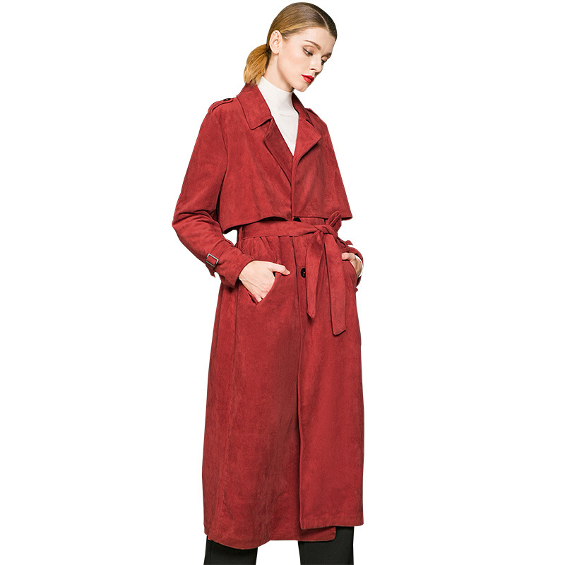 Tranchée Noir Femmes Rouge rouge Manteau Hx57wnFYqz