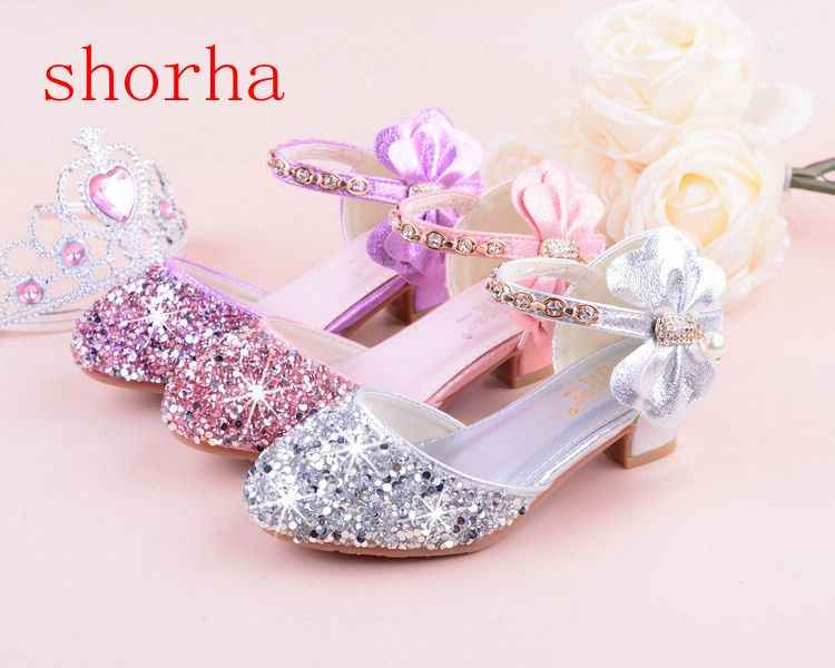 8b8970048828 New Children Princess Beading Sandals Kids Flower Wedding Shoes High Heels  Dress Shoes Party Shoes for