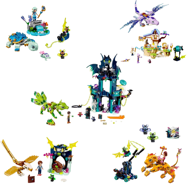 New Girl Friends Elves The Dragon Adventure Building Bricks Blocks DIY Educational Toys For Children Educatio 41194 41193 41192